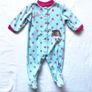 Carter's 6-9 Month Girls Fleece Footed Sleeper